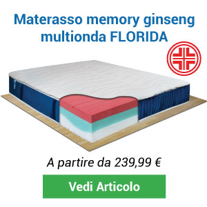 Materasso memory ginseng Florida Comprarredo