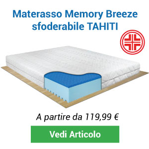 Materasso in memory Breeze sfoderabile Tahiti presidio medico Comprarredo