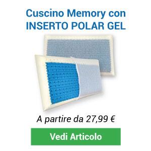 Cuscino memory inserto polar gel
