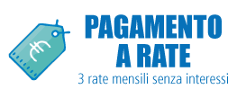 Acquista in 3 Rate senza interessi con Scapalay